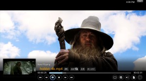 XBMC at UltraHD resolution.
